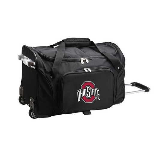 CLOSL401: NCAA Ohio State UNIV Buckeyes 22IN WHLD Duffel Nylon Bag